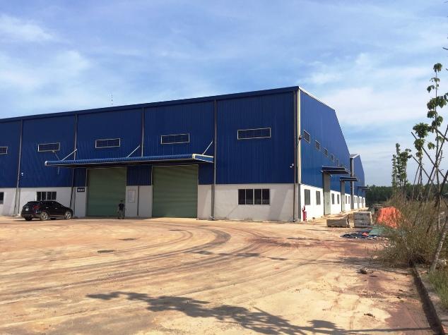 kho xưởng cho thuê trong Cụm CN VLXD Tân An