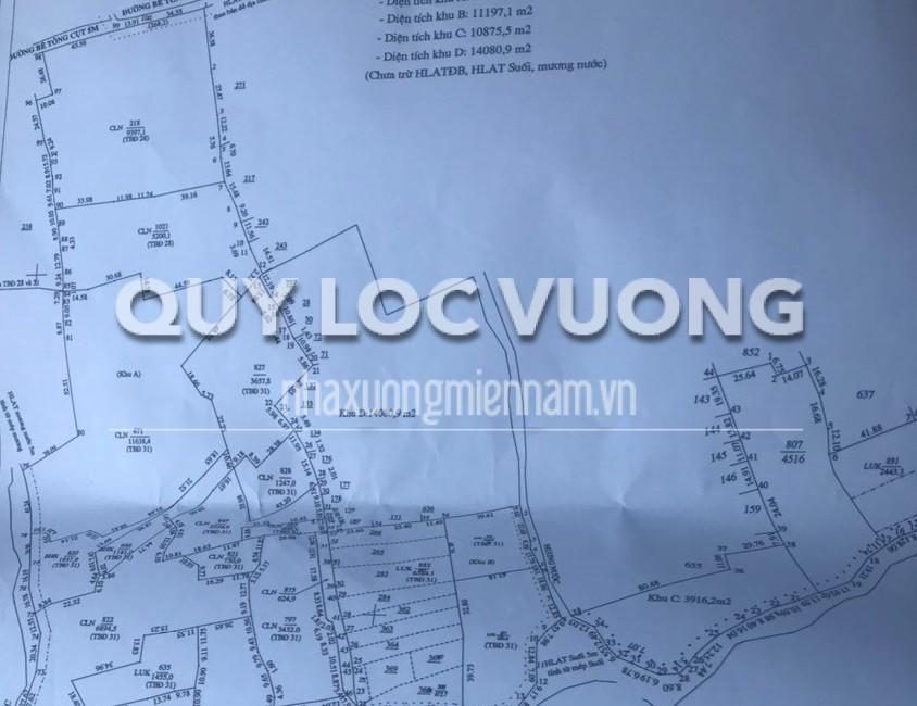 Bán đất trống xây xưởng xã Lai Hưng huyện Bàu Bàng rộng 120.000m2