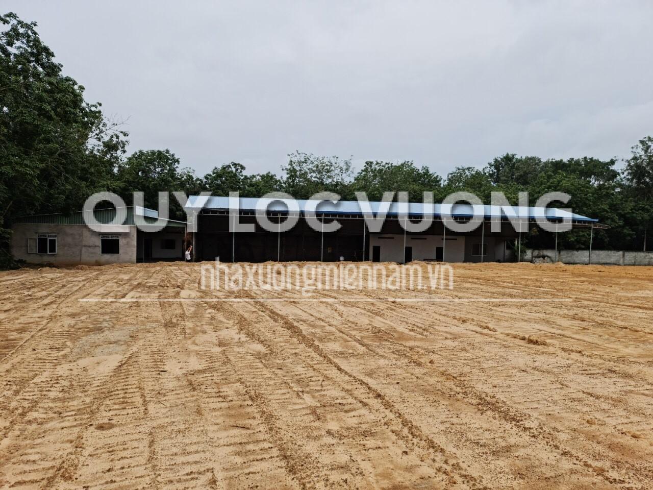 Bán đất và xưởng khu vực xã Tân Mỹ huyện Bắc Tân Uyên rộng 5.099m2